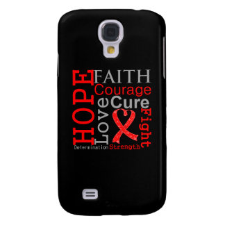 Blood Cancer Hope Faith Motto Samsung Galaxy S4 Cases