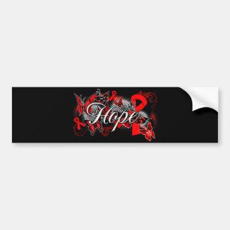Blood Cancer Hope Garden Ribbon Car Bumper Sticker