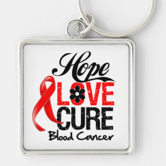 Blood Cancer Hope Love Cure Keychain