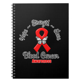 Blood Cancer Hope Strength Love Spiral Note Book