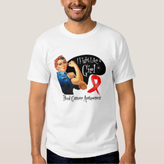 Blood Cancer I Fight Like a Girl Rosie The Riveter Tees