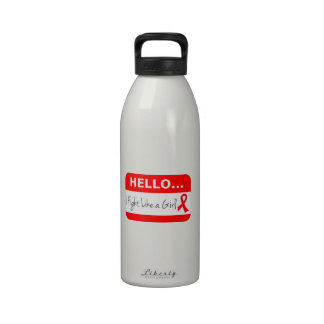 Blood Cancer I Fight Like a Girl Reusable Water Bottle