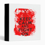Blood Cancer Keep Calm and Fight On Binder