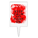 Blood Cancer Keep Calm and Fight On Cake Picks