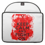 Blood Cancer Keep Calm and Fight On Sleeve For MacBooks