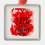 Blood Cancer Keep Calm and Fight On Christmas Tree Ornament