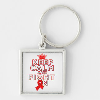 Blood Cancer Keep Calm Fight On Key Chains
