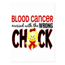 Blood Cancer Messed With The Wrong Chick Postcard