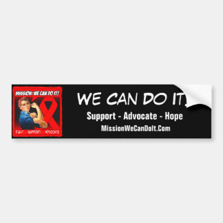 Blood Cancer Mission We Can Do It Car Bumper Sticker
