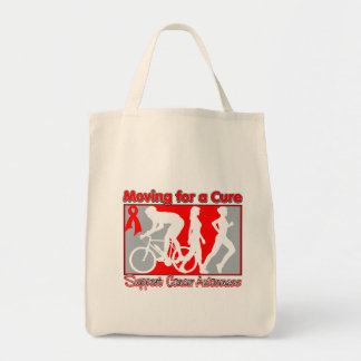 Blood Cancer Moving For A Cure Grocery Tote Bag