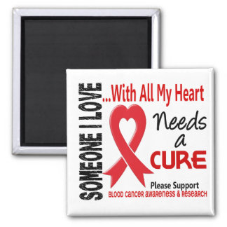 Blood Cancer Needs A Cure 3 2 Inch Square Magnet