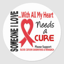 Blood Cancer Needs A Cure 3 Classic Round Sticker