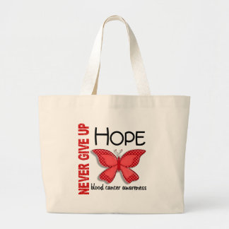 Blood Cancer Never Give Up Hope Butterfly 4.1 Tote Bags