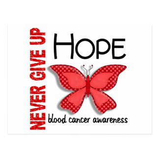 Blood Cancer Never Give Up Hope Butterfly 4.1 Postcard