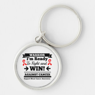 Blood Cancer Ready To Fight and Win Silver-Colored Round Keychain