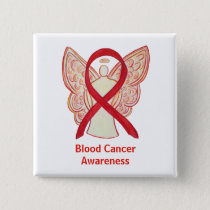 Blood Cancer Red Angel Awareness Ribbon Pins