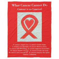 Blood Cancer Red Awareness Ribbon Chemo Blankets