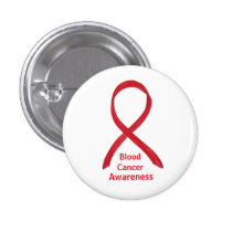 Blood Cancer Red Awareness Ribbon Lapel Pin Button