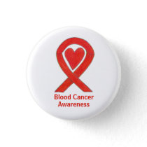 Blood Cancer Red Heart Awareness Ribbon Pins