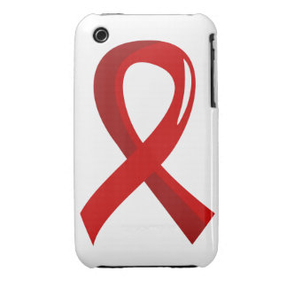 Blood Cancer Red Ribbon 3 iPhone 3 Case-Mate Cases