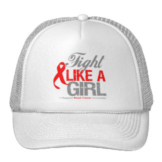 Blood Cancer Ribbon - Fight Like a Girl Hats