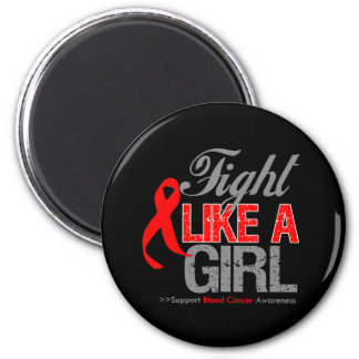 Blood Cancer Ribbon - Fight Like a Girl Magnet