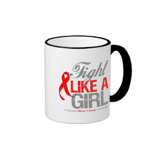 Blood Cancer Ribbon - Fight Like a Girl Coffee Mugs