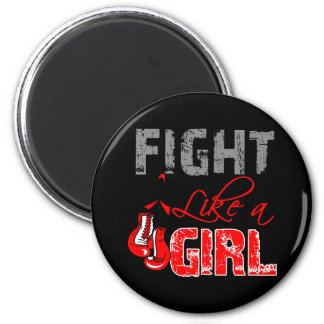 Blood Cancer Ribbon Gloves Fight Like a Girl Magnet