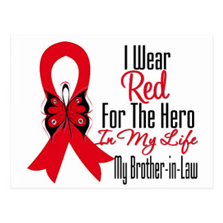 Blood Cancer Ribbon Hero in My Life Brother in Law Postcards