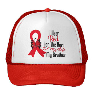 Blood Cancer Ribbon Hero in My Life My Brother Hats