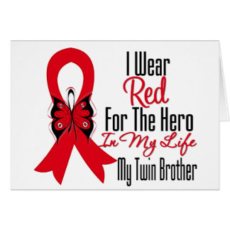 Blood Cancer Ribbon Hero in My Life Twin Brother Greeting Cards