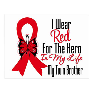Blood Cancer Ribbon Hero in My Life Twin Brother Post Cards