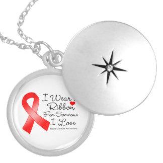 Blood Cancer Ribbon Someone I Love Round Locket Necklace
