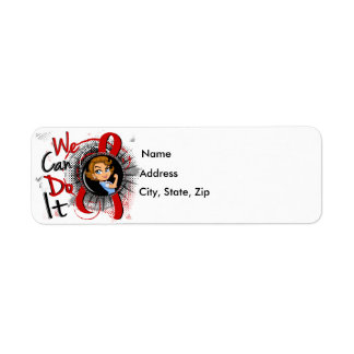 Blood Cancer Rosie Cartoon WCDI Label
