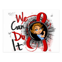 Blood Cancer Rosie Cartoon WCDI Postcard