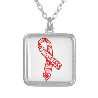 Blood Cancer Slogans Ribbon Jewelry