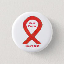 Blood Cancer Stripes Awareness Ribbon Pin Button