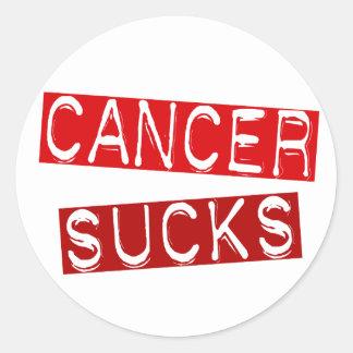 Blood Cancer Sucks 2C Classic Round Sticker