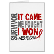 Blood Cancer Survivor It Came We Fought I Won Card