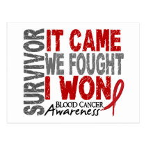 Blood Cancer Survivor It Came We Fought I Won Postcard