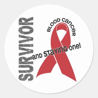 Blood Cancer Survivor Round Sticker