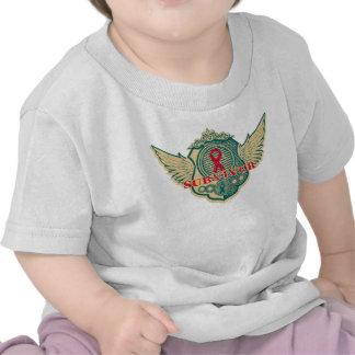 Blood Cancer Survivor Vintage Winged T Shirt