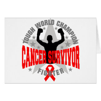 Blood Cancer Tough World Champion Survivor Greeting Cards