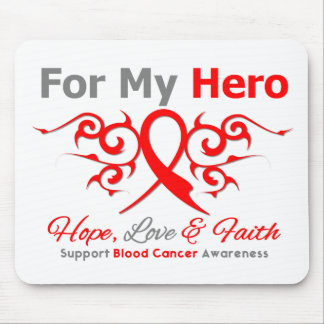 Blood Cancer Tribal Ribbon Hero Mouse Pads