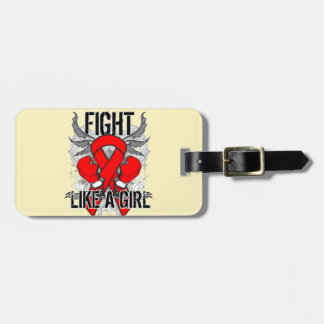 Blood Cancer Ultra Fight Like A Girl Travel Bag Tag