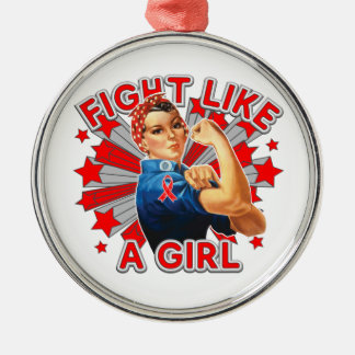 Blood Cancer Vintage Rosie Fight Like A Girl Ornaments