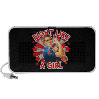 Blood Cancer Vintage Rosie Fight Like A Girl Portable Speakers