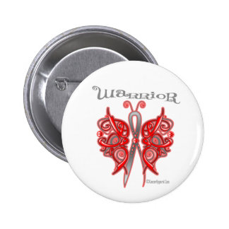 Blood Cancer Warrior Celtic Butterfly Pinback Button