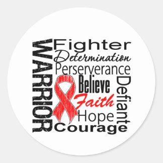Blood Cancer Warrior Collage Round Sticker