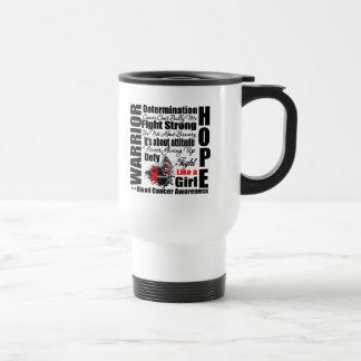 Blood Cancer Warrior Fight Slogans Coffee Mugs